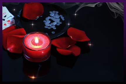 Love spell candles cast ritual