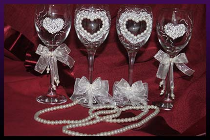 Marriage spells wine-glass