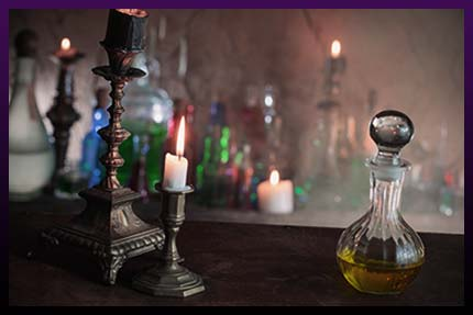 Herbal candle spells