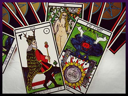 The tarot cards created by Crowley and Harris used to be