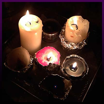 Simple white magic love spells candles