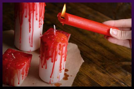 Love spell cast candles