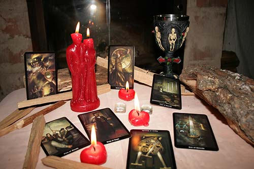 Tarot reading by a spellcaster
