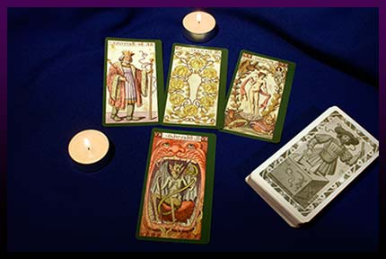 Tarot card candle spell