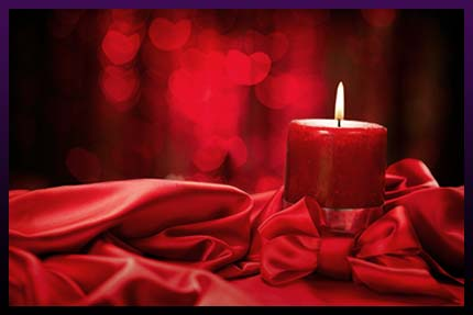 Love spell red candle - one of the best spells to cast of a love ritual