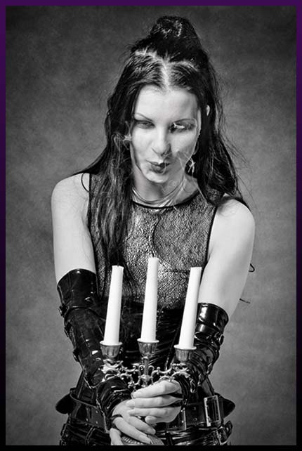 Spell caster with candles