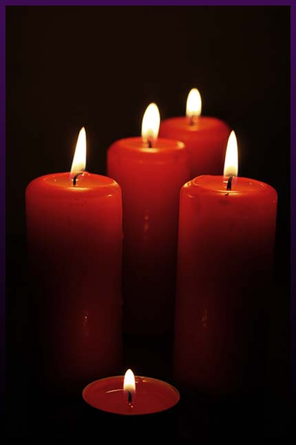 Magic candle spell for love