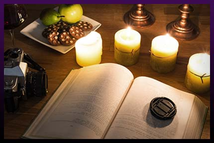 White magic candle spell